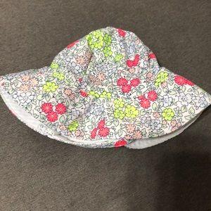 Reversible Baby Sun Hat - Size 0-3M